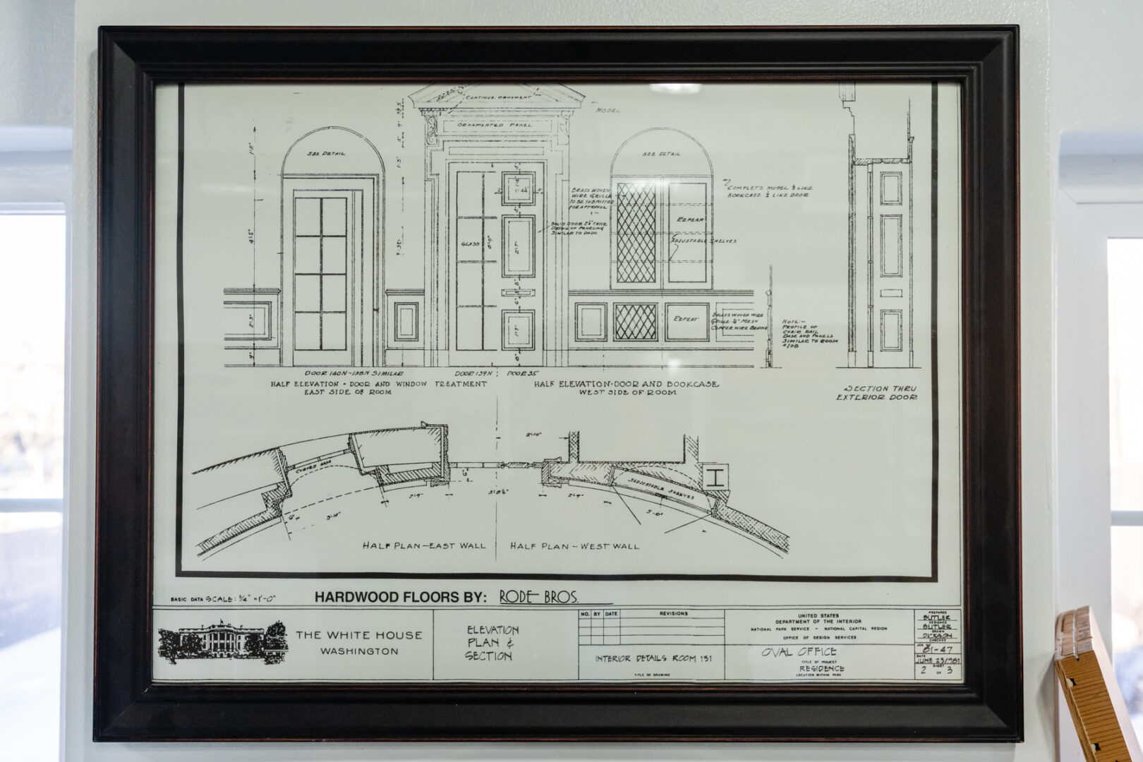 Hardwood flooring blueprint